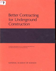 Better Contracting for Underground Construction