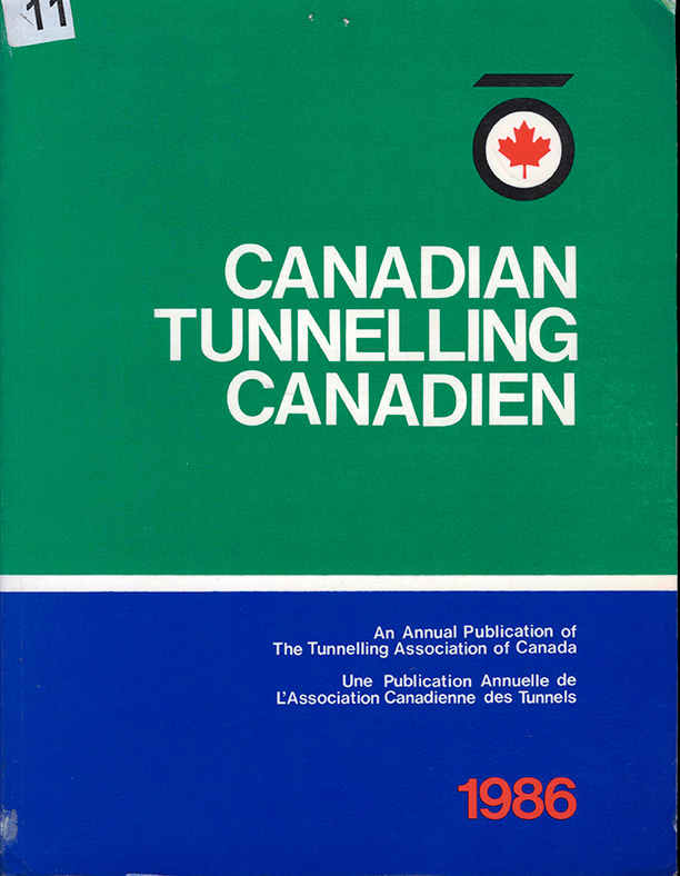Canadian Tunnelling Canadien: An Annual Publication Of The Tunnelling Association Of Canada